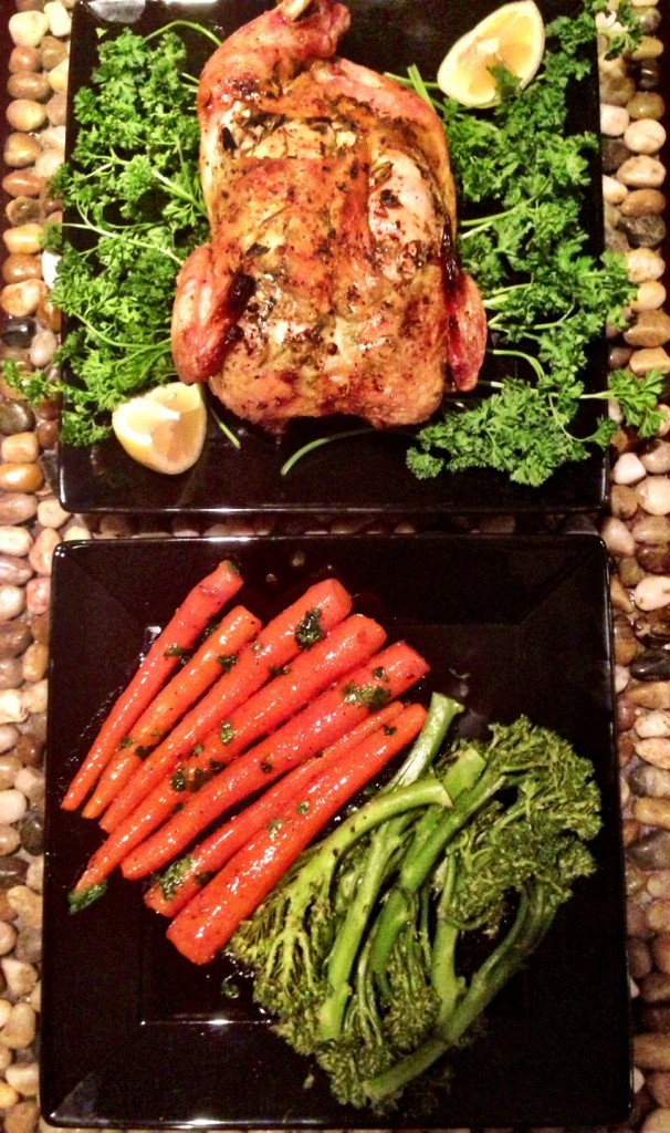 Roasted Chicken and Fresh Herbs